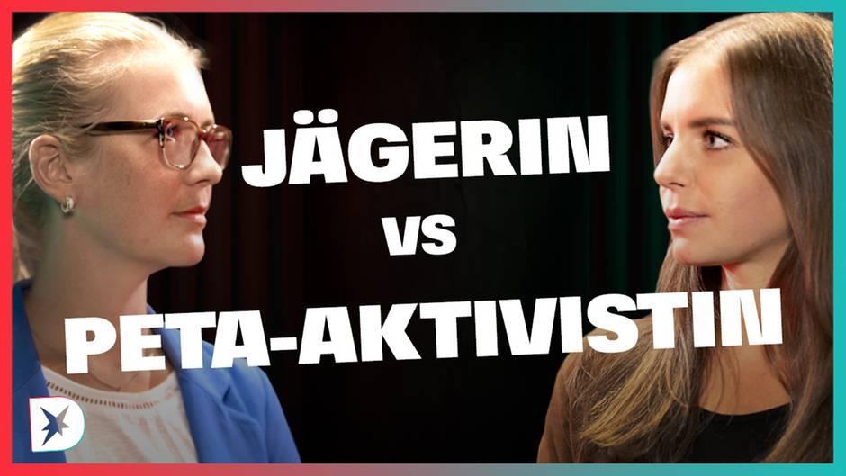 stern-DISKUTHEK: Jägerin und Peta-Aktivistin streiten: Abschießen oder gehört der Wolf zu uns?