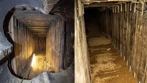 Nach Bankraub: Der Tunnel zur Volksbank in Berlin-Steglitz