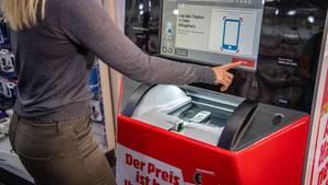 Handy-Automat bei MediaMarkt