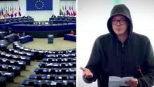 """Nico Semsrott von """"Die Partei"""" provoziert im EU-Parlament"""