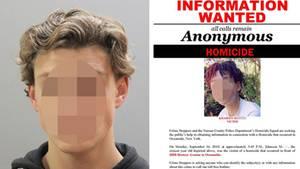 16-jährigen Tyler F.; Zeugenaufruf der Polizei auf Long Island