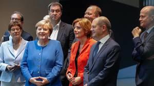 Die Teilnehmer der nächtlichenKoalitionsausschusssitzung zum Thema Klima