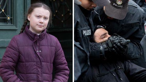 Greta Thunber; Polizeieinsatz in Hamburg
