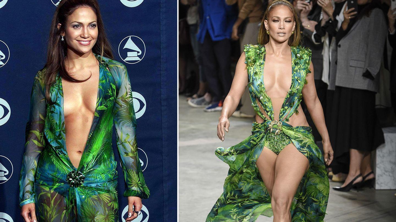 jennifer lopez und ihr ikonisches, grünes versace-kleid