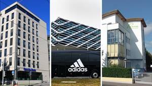 Drei Unternehmen mit Zukunft und ihre Firmensitze