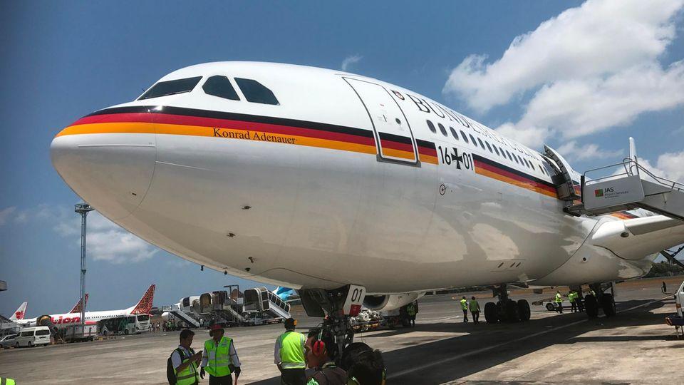 Regierungsmitglieder reisen meist mit Flugzeugen der deutschen Luftwaffe