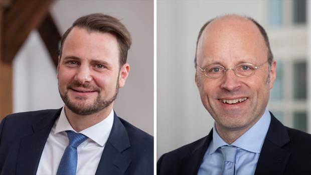 Vorstand Oliver Schwegmann (links) und Marketingchef Stephan Suse haben mit dem stern darüber gesprochen, wie sie die Marke Berentzen neu erfinden wollen.
