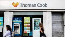 Geschlossenes Reisebüro von Thomas Cook in London