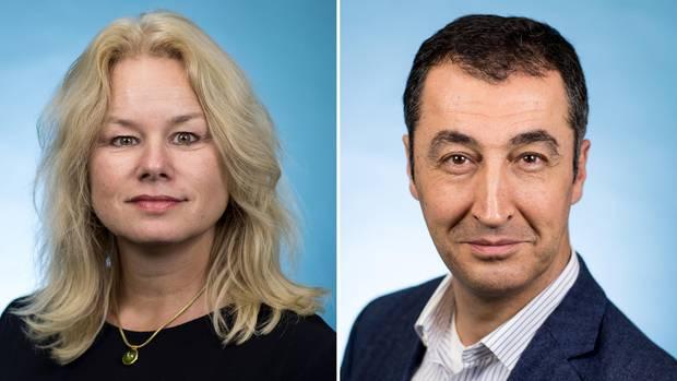 Kirsten Kappert-Gonther und Cem Özdemir, beide Bundestagsabgeordnete für Bündnis 90/Die Grünen, wollen den Fraktionsvorsitz übernehmen.