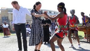 Harry und Meghan bei ihrem Besuch imNyanga-Township