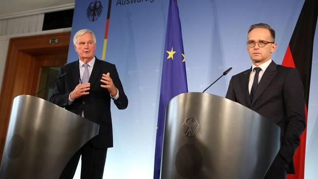 EU-Unterhändler Michel Barnier und der deutsche Außenminister Heiko Maas