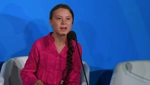 Greta Thunberg beim UN-Klimagipfel in New York