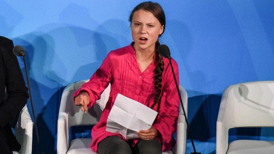 """Greta Thunberg auf dem Klimagipfel in New York:""""Wie können Sie es wagen!"""""""