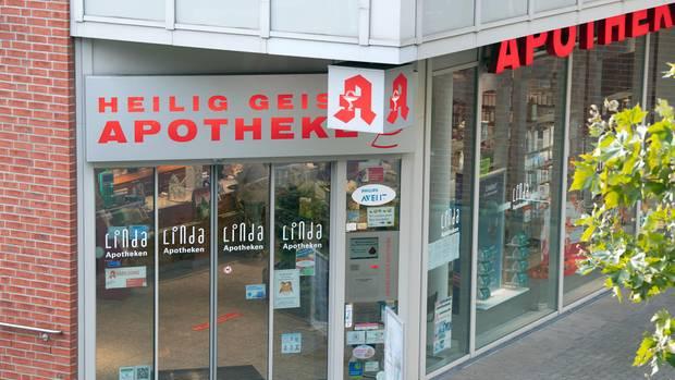 In der Heilig-Geist-Apotheke in Köln-Longerich erwarb die Frau das Glukosegemisch.