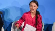 Greta Thunberg bei ihrer Rede auf dem UN-Klimagipfel