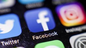 Facebook-Icon auf einem iPhone