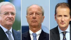 Die drei VW-Manager Winterkorn, Pötsch, Diess