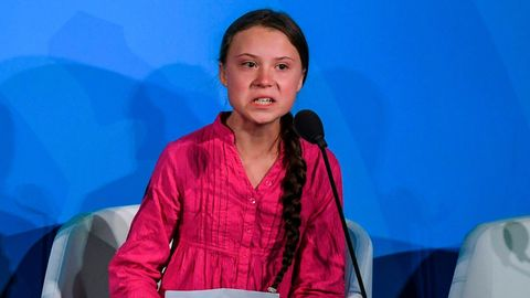 Greta Thunberg spricht vor der UN-Vollversammlung