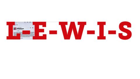Buchstaben L-E-W-I-S