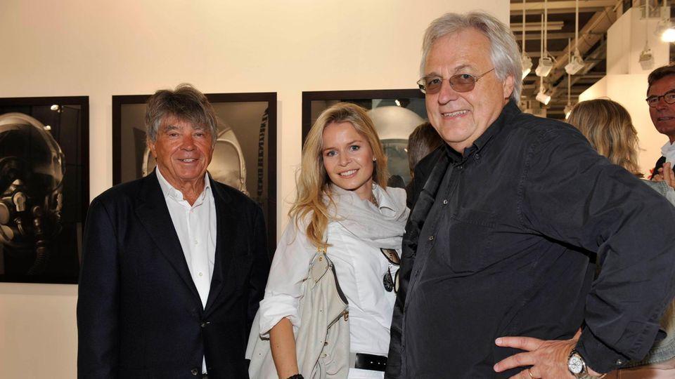 Frieder Burda und Tochter Patricia und Helge Achenbach