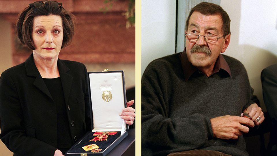 Die Nobelpreisträger Herta Müller und Günter Grass