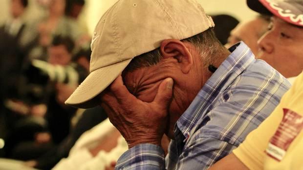 Eltern und Verwandte der 43 verschwundenen Lehramtsstudenten