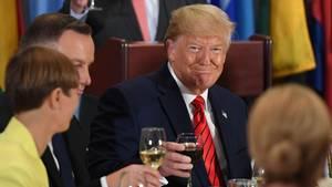 US-Präsident Donald Trump (rote Krawatte) während der UN-Vollversammlung