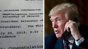 Collage: Telefonprotokoll, Donald Trump mit Telefon