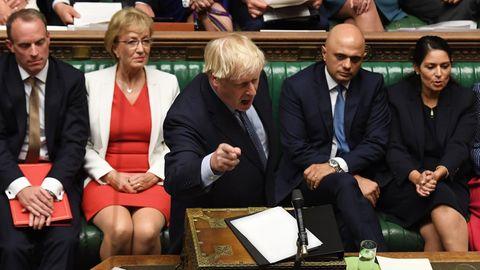 Boris Johnson spricht im Unterhaus