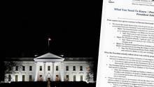 Weißes Haus in Wahsington, Kommunikationsanweisung zum Telefonat von Donald Trump mitWolodymyr Selenskyj