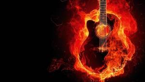 Brennende Gitarre