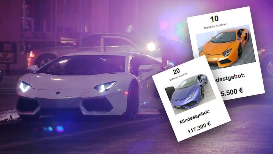 Lamborghinis aus Razzia: Behörde versteigert Luxus-Autos von Verbrecher-Clans – zum Spottpreis?