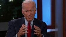Joe Biden war in der Talkshow von US-Moderator Jimmy Kimmel zu Gast