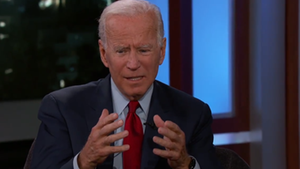 Joe Biden war in der Talkshow von US-Moderator Jimmy Kimmel zu Gast