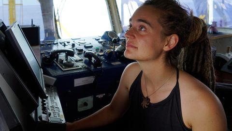 "Carola Rackete auf der ""Sea-Watch 3"""