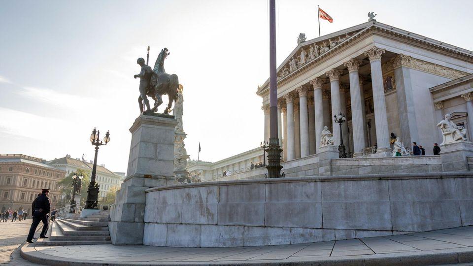 Österreichisches Parlamantsgebäude in Wien