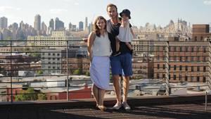 Christina Horsten und Felix Zeltner mit ihrer Tochter Emma