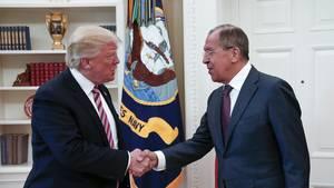 US-Präsident Donald Trump (l.) und Russlands Außenminister Sergej Lawrow