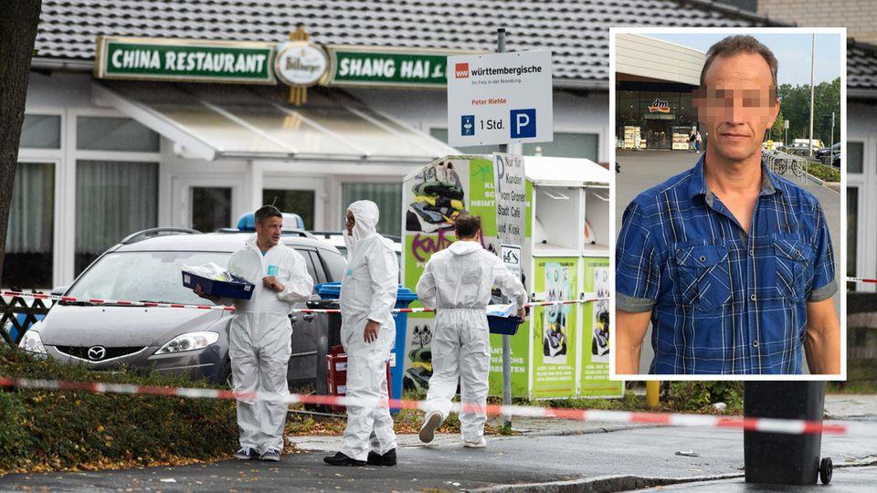 Niedersachsen, Göttingen: Ermittler der Polizei stehen am abgesperrten Tatort