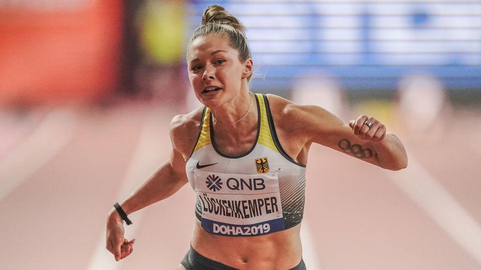 Gina Lückenkemper scheiterte auf der 100-Meter-Strecke in Doha im Halbfinale