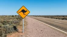 Typisches Straßenschild in Australien