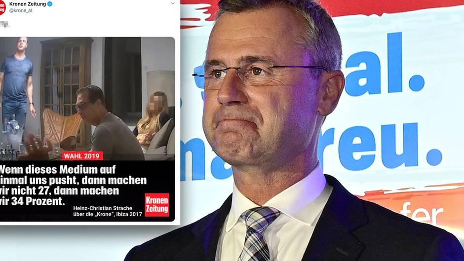 FPÖ Obmann Norbert Hofer bei der FPÖ Wahlfeier im Rahmen der Nationalratswahl am Sonntag, 29. September 2019, in Wien