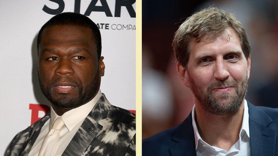 50 Cent und Dirk Nowitzki