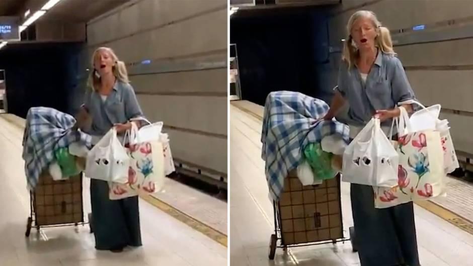 Los Angeles: Obdachlose Frau singt Arie in U-Bahnhof – ihr Gesang berührt nicht nur die Polizei