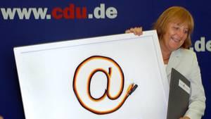 CDU-Vorsitzende Angela Merkel 2001
