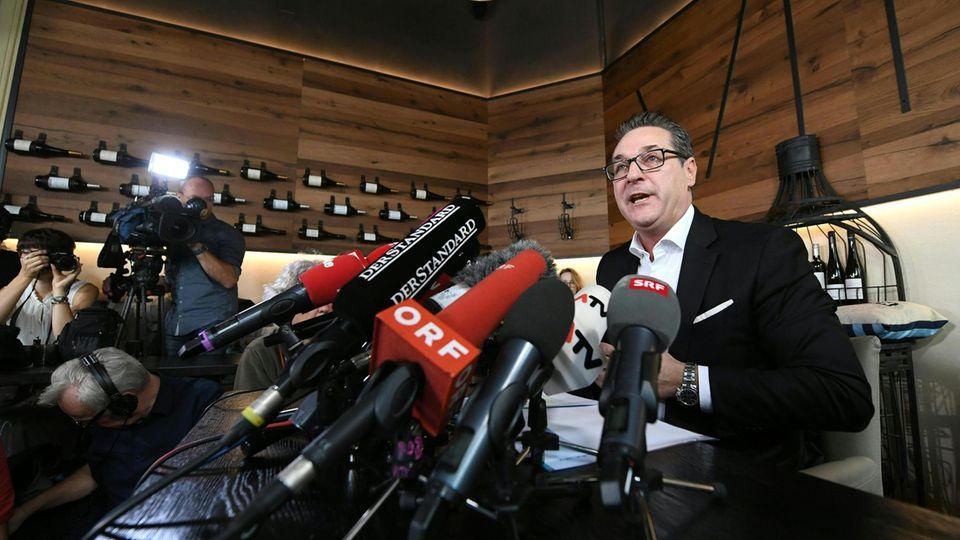 Heinz-Christian Strache, ehemaliger FPÖ-Parteichef