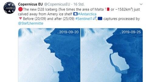 Phänomen im Amery-Schelfeis: So groß wie London: Riesiger Block bricht in Antarktis vom ewigen Eis ab