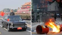 Militärparade in Peking, Proteste in Hongkong