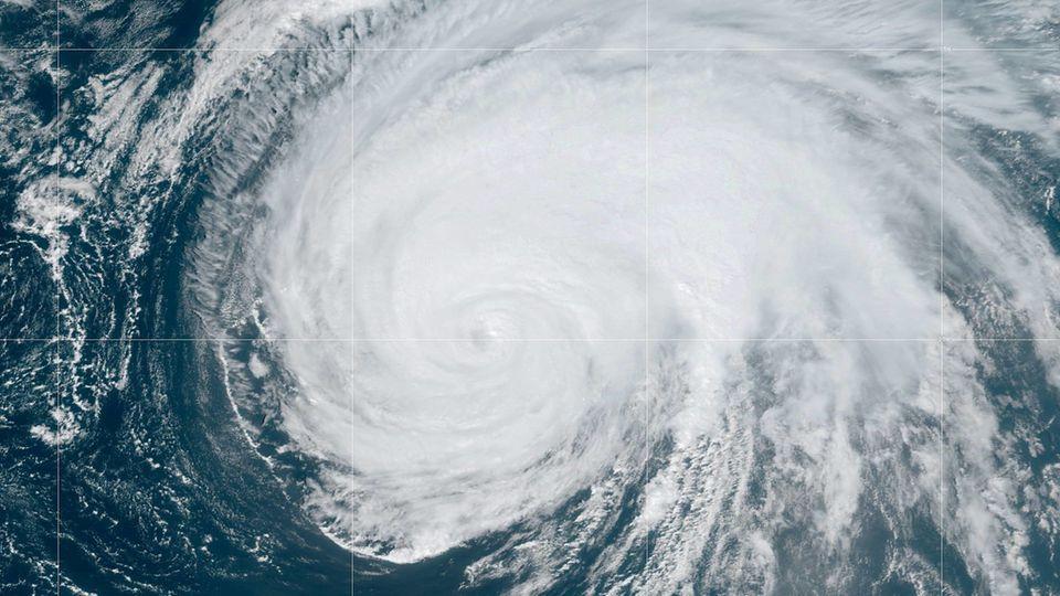 Satellitenbild von Hurrikan Lorenzo