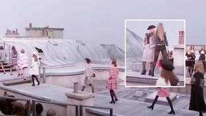 Zuschauerin crasht Modenschau – Supermodel Gigi Hadid führt sie vom Laufsteg